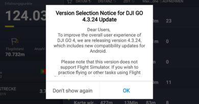 DJI Go 4 App Update Hinweis 2