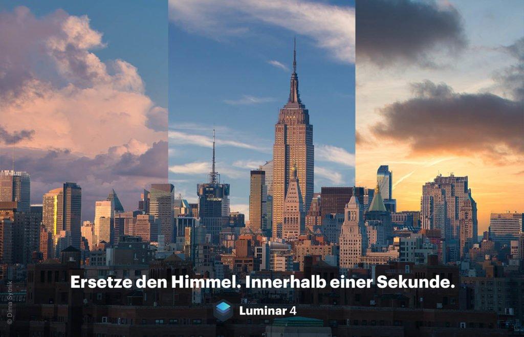 Luminar 4 AI Sky Replacement