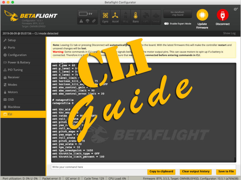 Der ultimative Betaflight CLI Command Guide für FPV-Profis