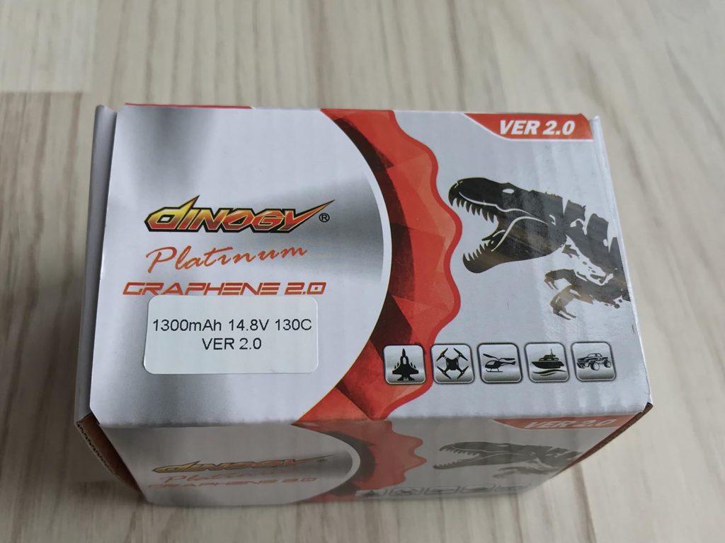 Dinogy Platinum Graphene 2.0 4S 1300 mAh 130 C V2.0 - Box
