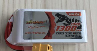 Dinogy Platinum Graphene 2.0 4S 1300 mAh 130 C V2.0 - Front