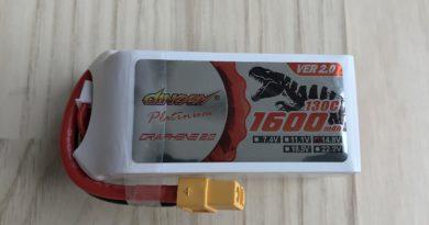 Dinogy Platinum Graphene 2.0 4S 1600 mAh 130 C V2.0 - Front