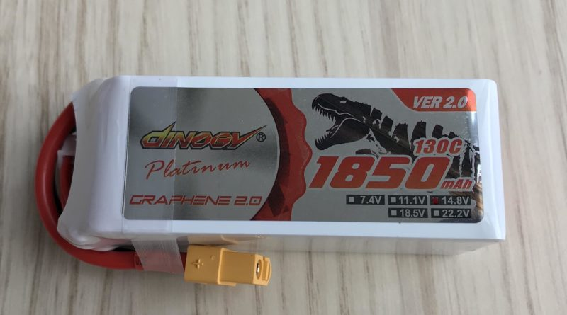 Dinogy Platinum Graphene 4S 1850 mAh 130 C V2.0 - Front