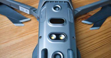 Sichtkameras und IR-Sensoren auf der Unterseite der Mavic 2 Pro