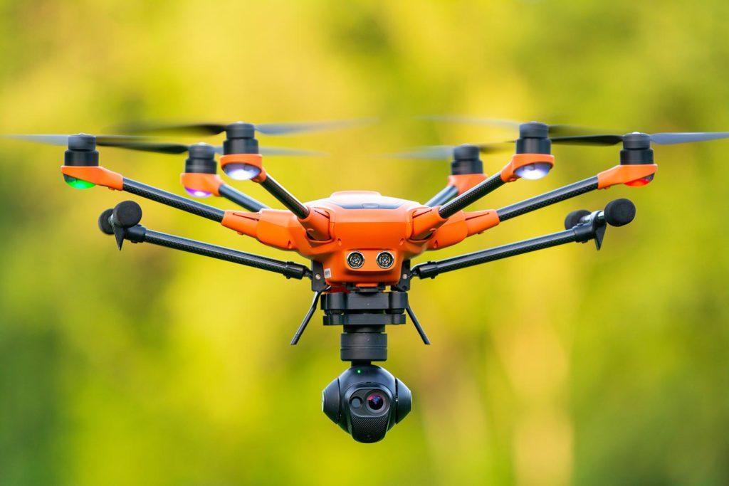 Yuneec H520 Hexacopter in der Luft