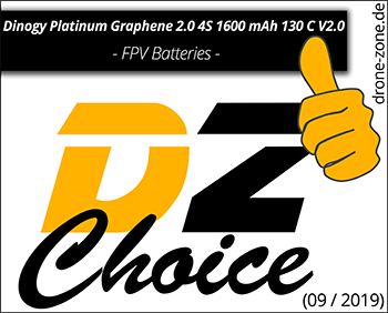 Dinogy Platinum Graphene 2.0 4S 1600 mAh 130 C V2.0 DZ Choice Award Web