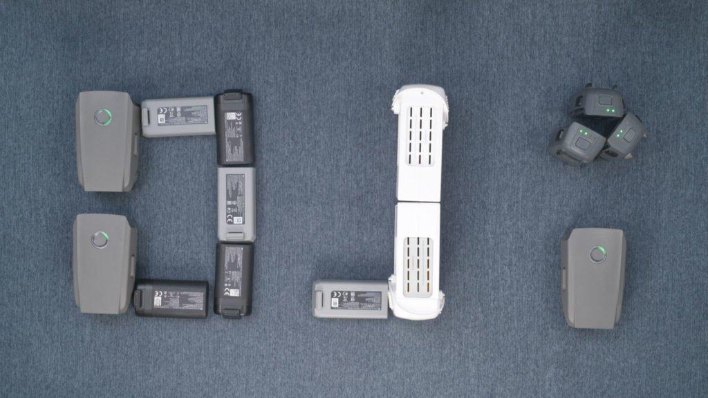 DJI Drohnen-Akkus in Form des DJI Logos