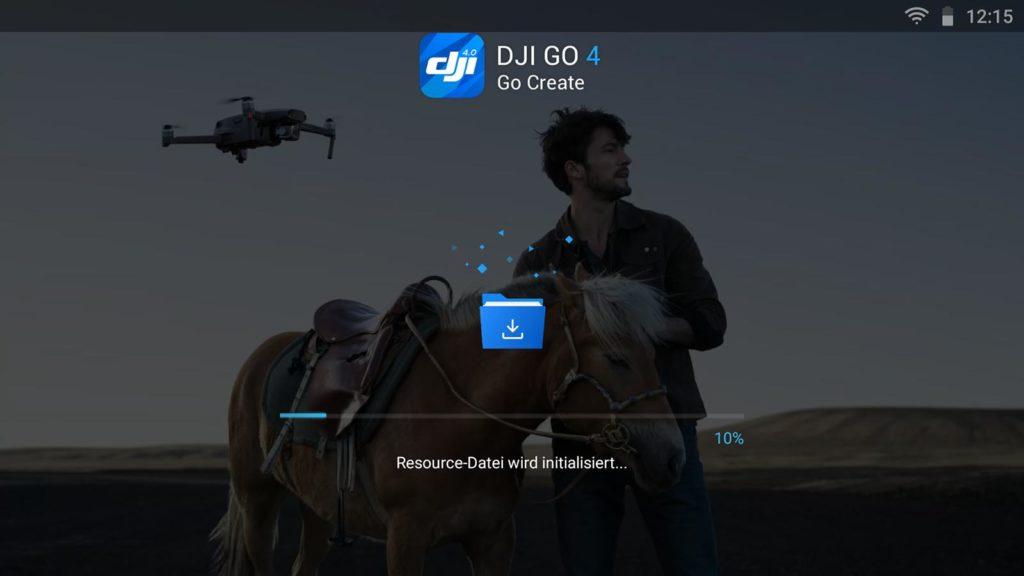DJI Go 4 App v4.3.24 Smart Controller Update - Ressourcen initialisieren