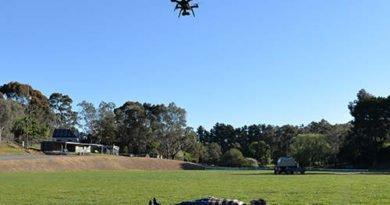 Drohne erkennt tote und lbendige Körper