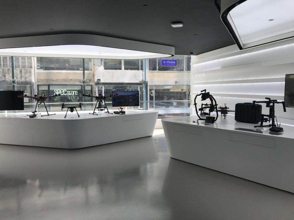Enterprise Drohnen im Flagship Store Hongkong