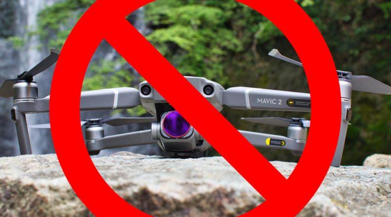 Mavic 2 Mino Wasserfall Drone Ban