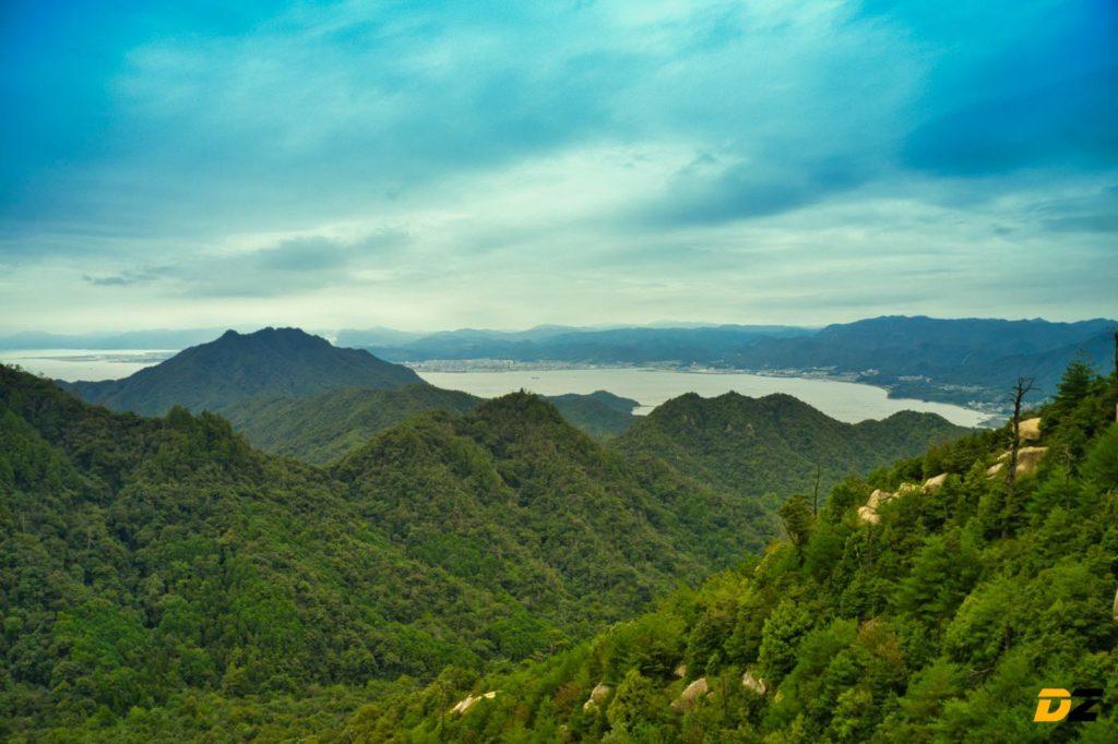 Miyajima Luftbild Berg