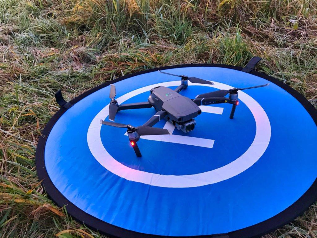 Drohnen Landing Pad im Einsatz