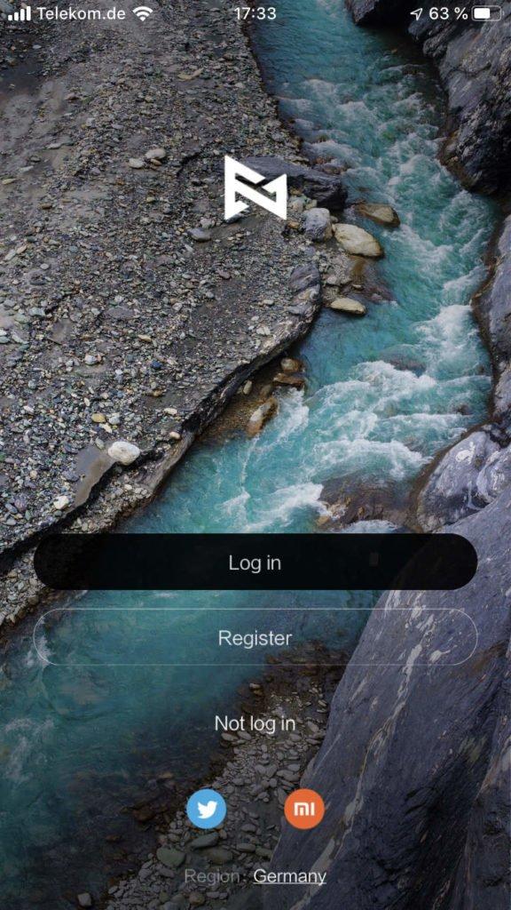 Fimi Navi App Registrierung