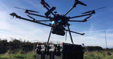 Routescene LidarPod unter einer Drohne