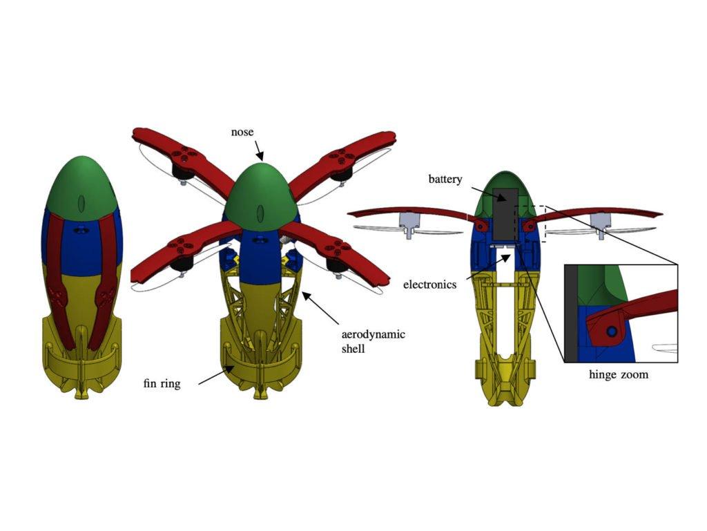 SQUID Drohne für ballistischen Start