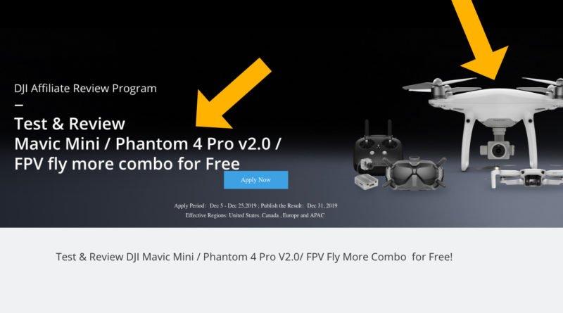 DJI Phantom 4 Pro Affiliate Ankündigung Dezember 2019