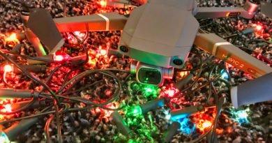 Mavic 2 mit Lichterkette