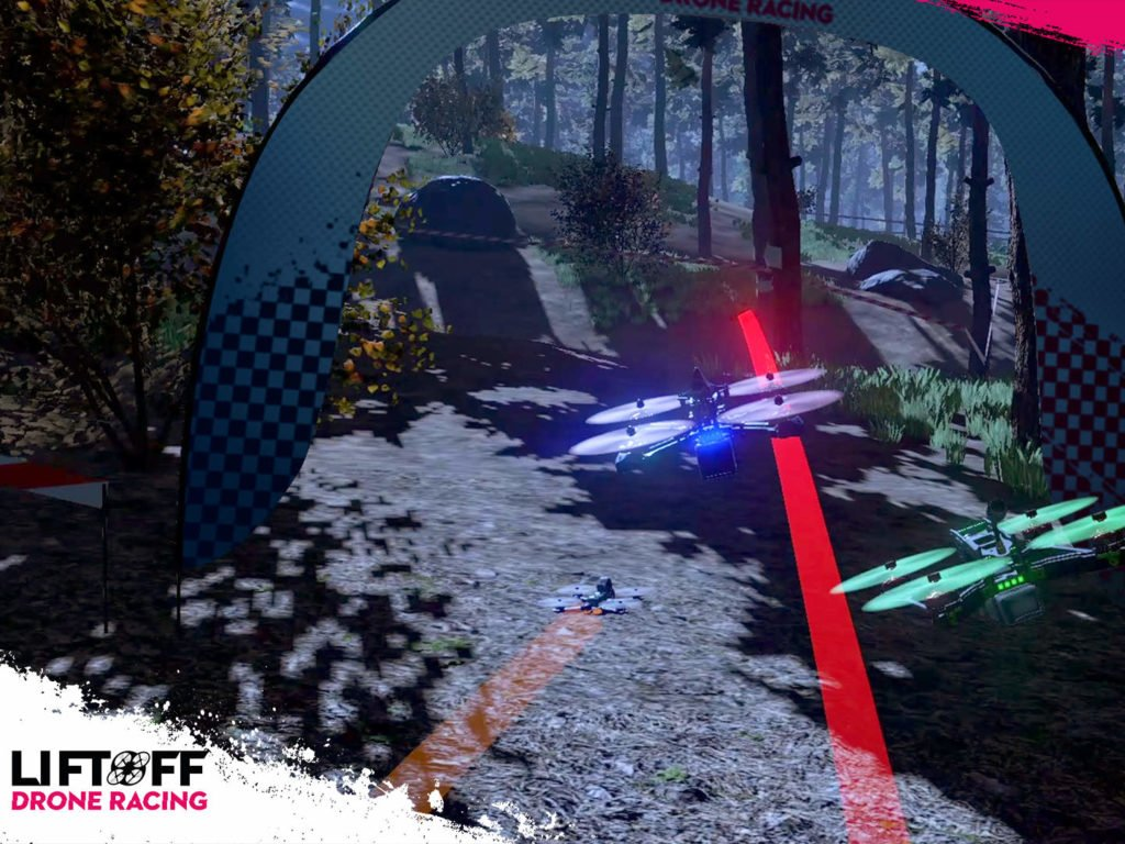 Lift Off Drone Racing in der Nacht