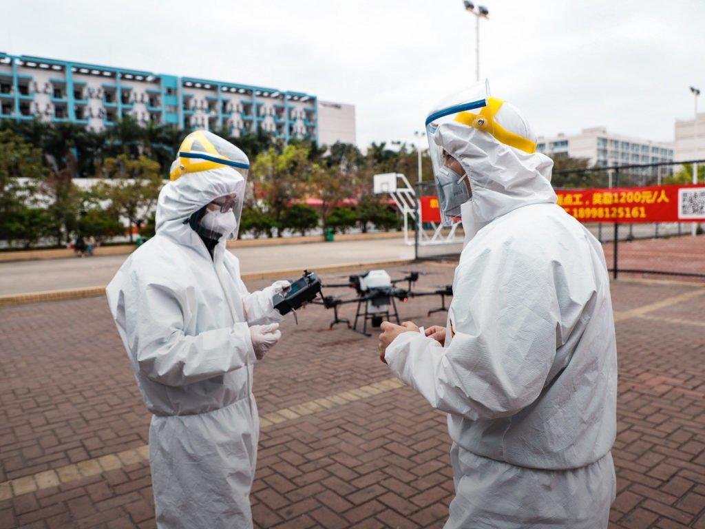DJI bekämpft Corona Virus in China
