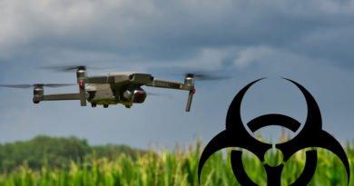 Drohne mit Biohazard Symbol