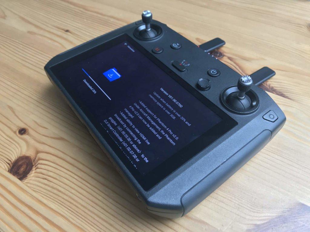 how to update dji phantom pro 4 smart battery firmware