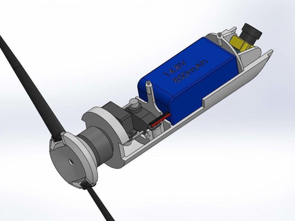 GLUAS Drohne zum Start aus einem Granatwerfer