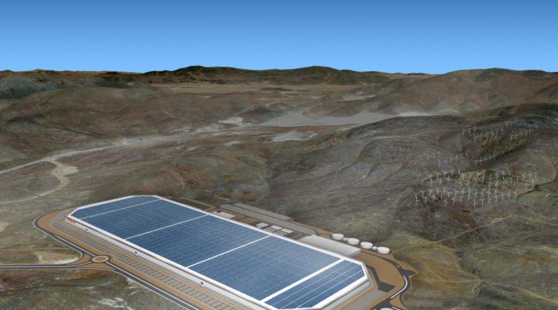 Tesla Gigafactory 1 aus der Luft