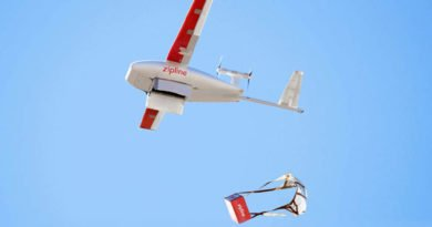 Zipline Drohne wirft Ladung ab