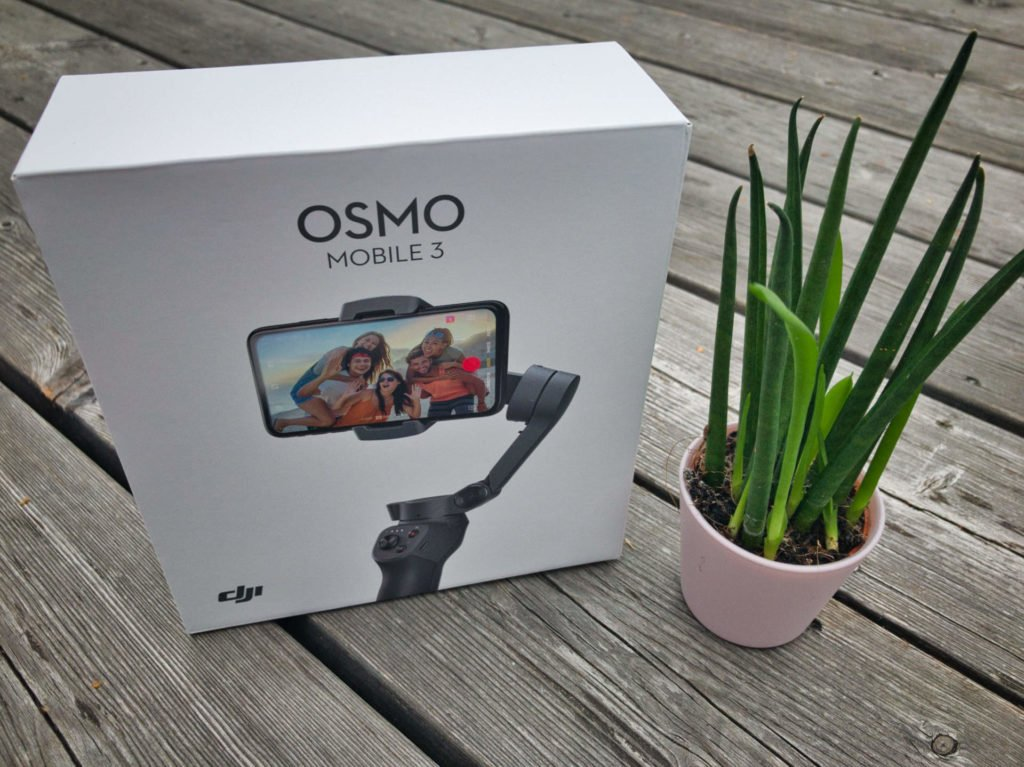 DJI Osmo Mobile 3 Verpackung und Gimbal