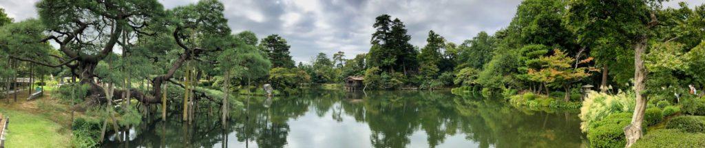 Ein 240 Grad Panorama in einem Garten in Kanasawa