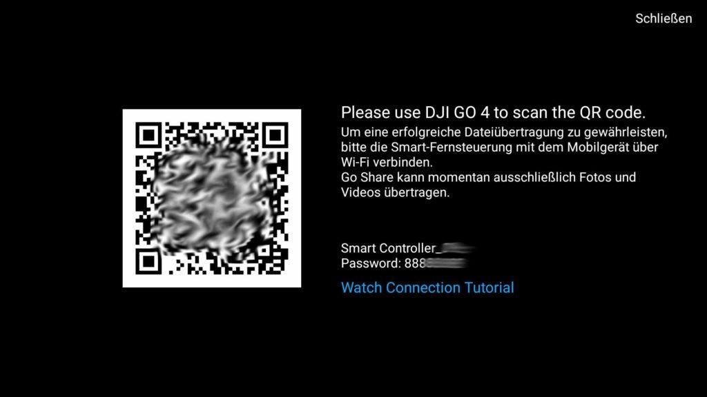 Verbindung mit dem Go Share WiFi