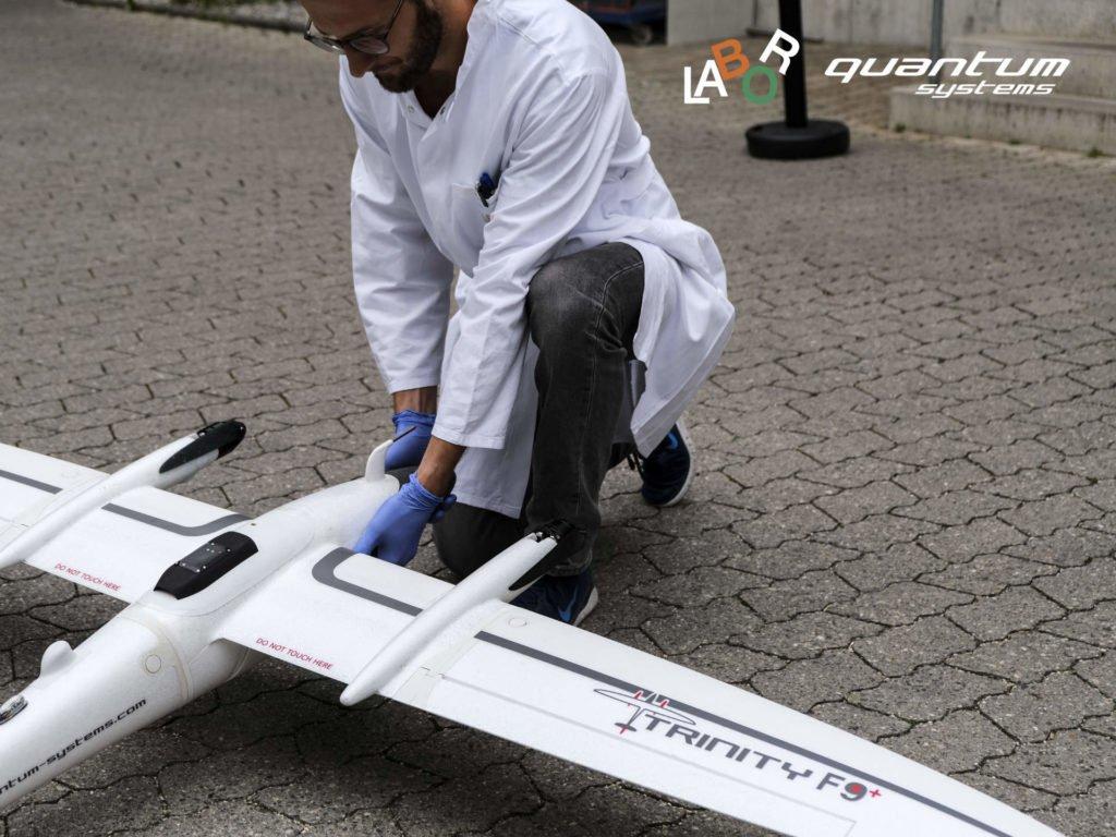 Drohnentransport von Corona Tests in München