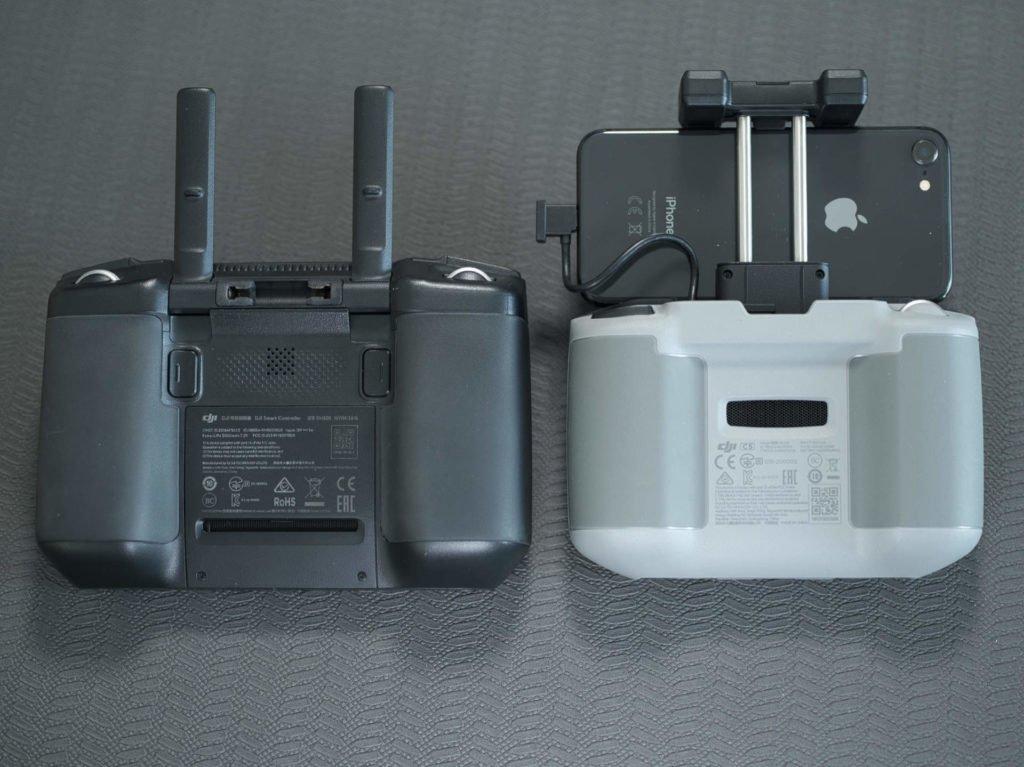 Die Rückseite des Controllers und Smart Controllers