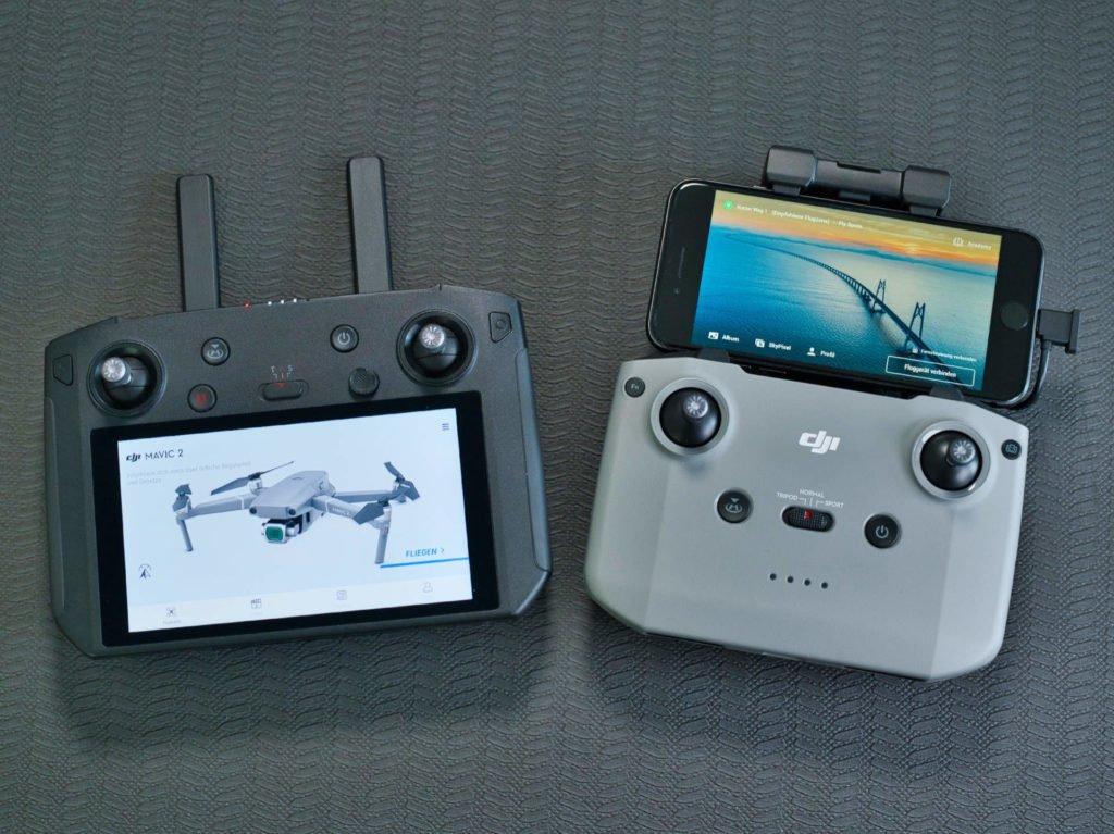 Controller und Smart Controller mit aktiviertem Display