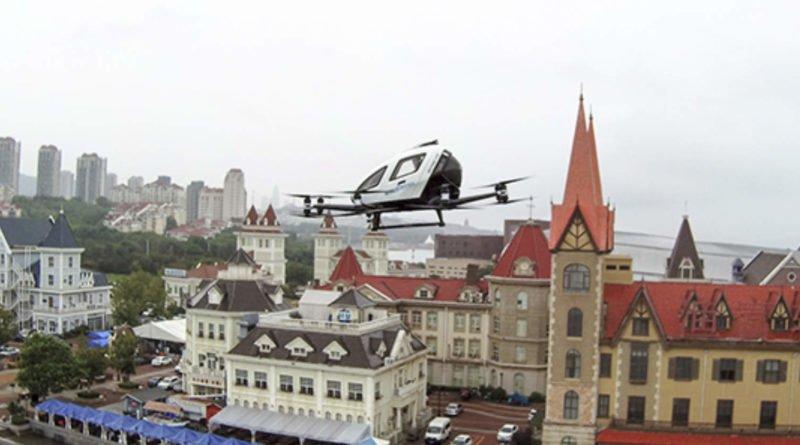 EHang 216 Drohne mit Passagier an Bord