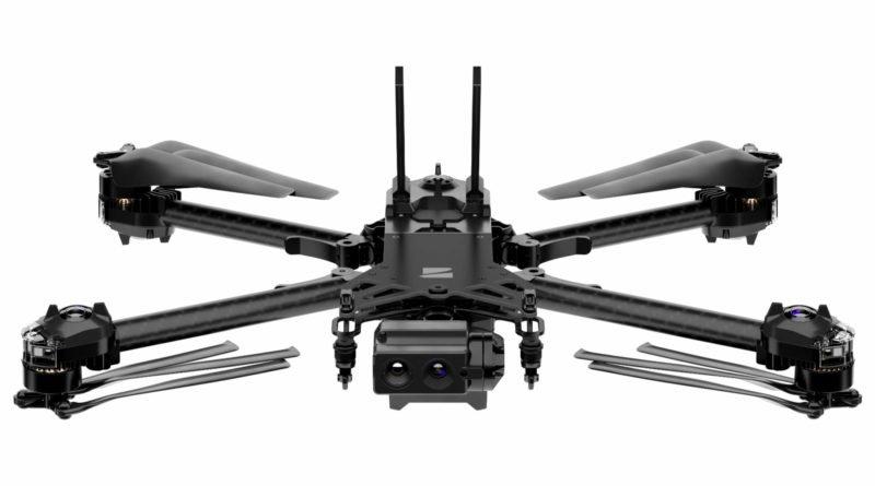 Skydio X2 Drohne mit gefalteten Propellern