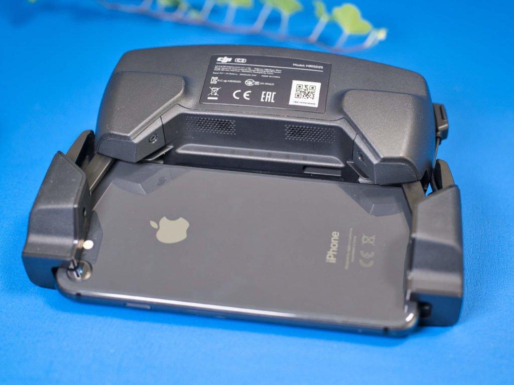 Controller Rückseite samt iPhone 8