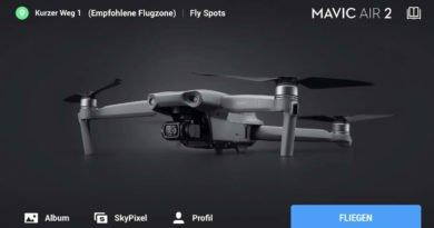 DJI Fly App Startscreen Mavic Air 2 -4-3