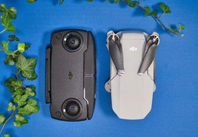 Mavic Mini im Vergleich neben dem eingeklappten Controller