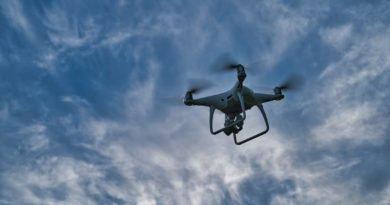 Akkustatus der Drohne deutlich sichtbar