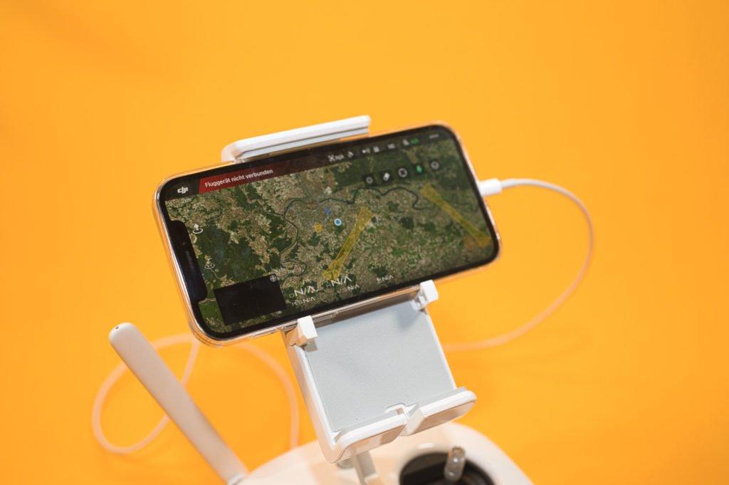 DJI Go 4 App auf dem iPhone 12 Pro
