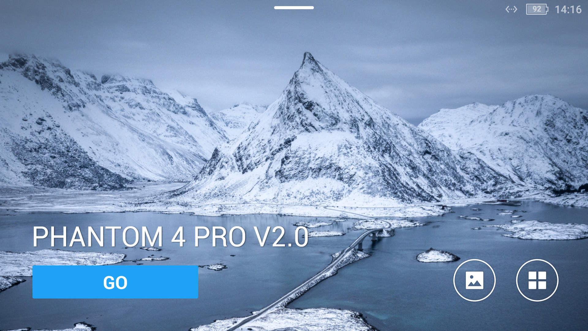 DJI Go 4 AppP4P V2.0 Startscreen