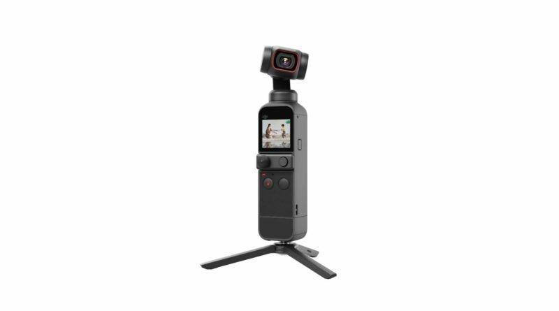 DJI Pocket 2 Kamera mit aktiviertem Display
