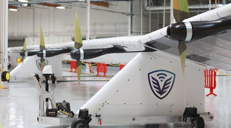 HAPSMobile Sunglider Solar-Drohne im Hangar
