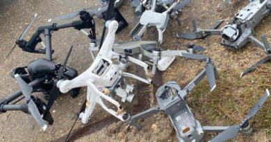 Abgefangene Drohnen des Smart Shoot Smash Testbetriebs in den Niederlanden