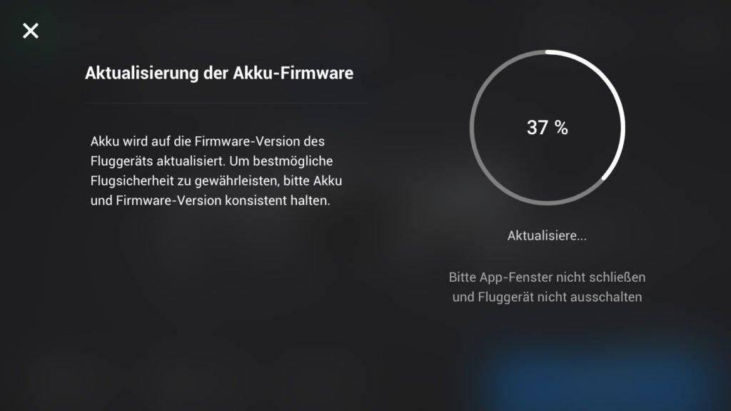 Aktualisierung des Mavic Mini Akkus in der Mini 2 Drohne durch Updates
