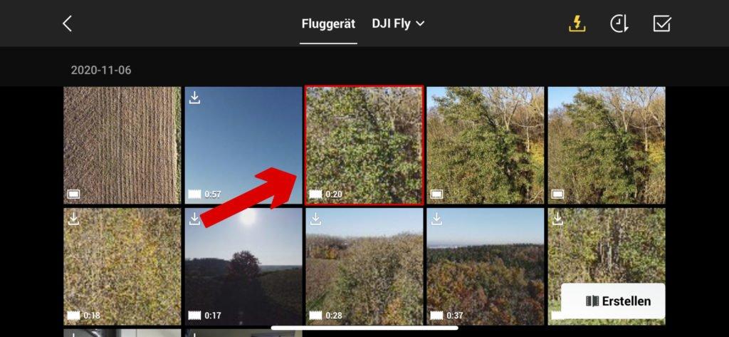 Auswahl eines Bildes im Fly App Album