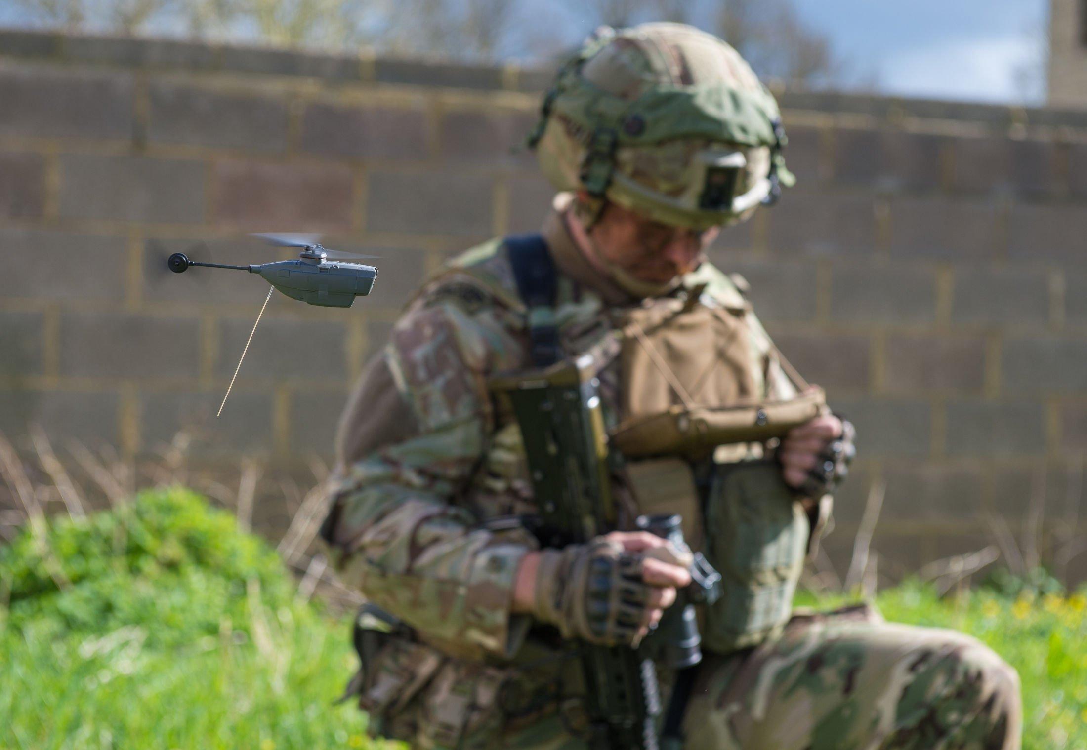 Black Hornet 2 Drohne der Royal Marine UK