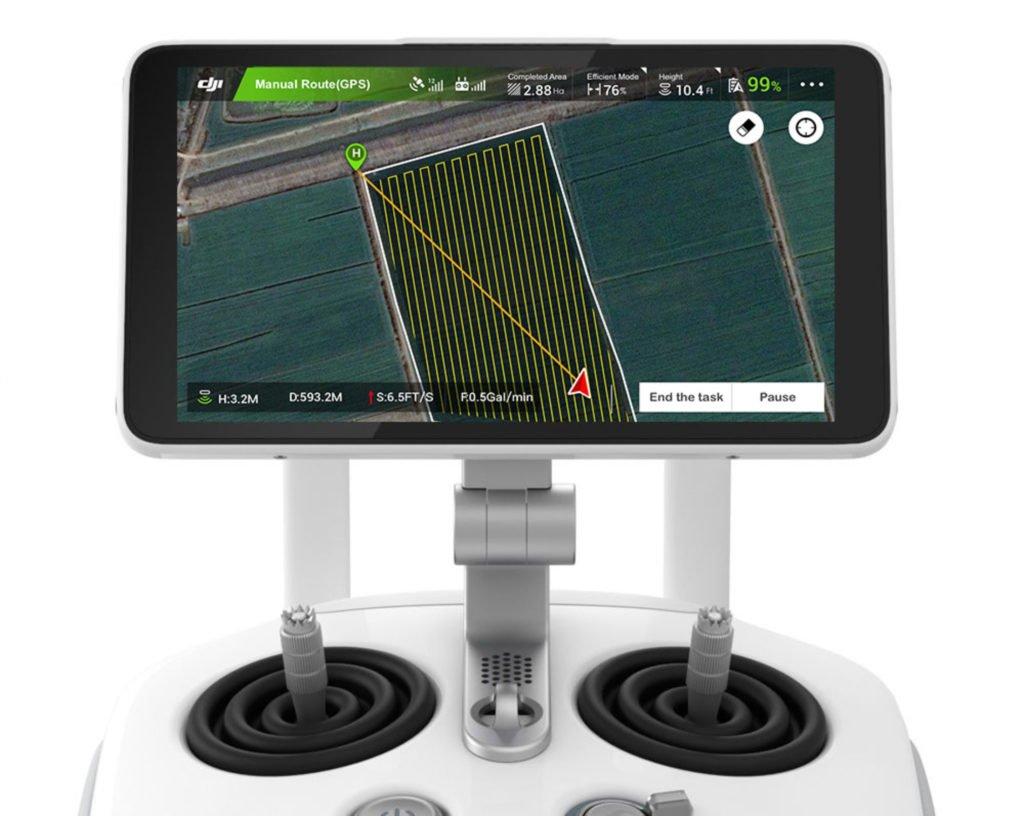 DJI Agras T16 Controller Display Closeup